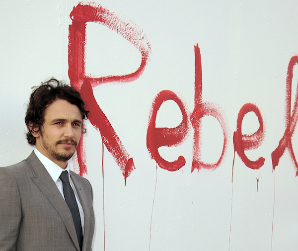 "Actor James Franco arrives at the Museum of Contemporary Art's presentation of an exhibition entitled ""Rebel"" in Los Angeles"