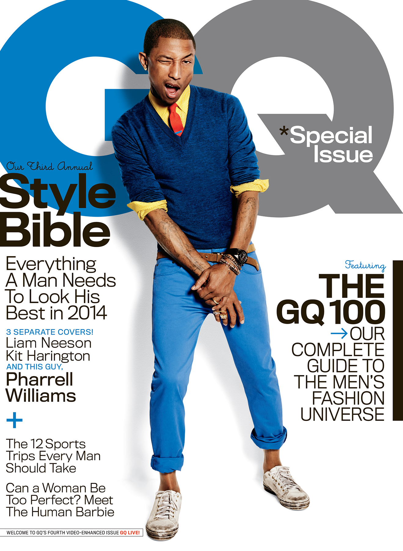 Pharrell Williams on the Cover of GQ