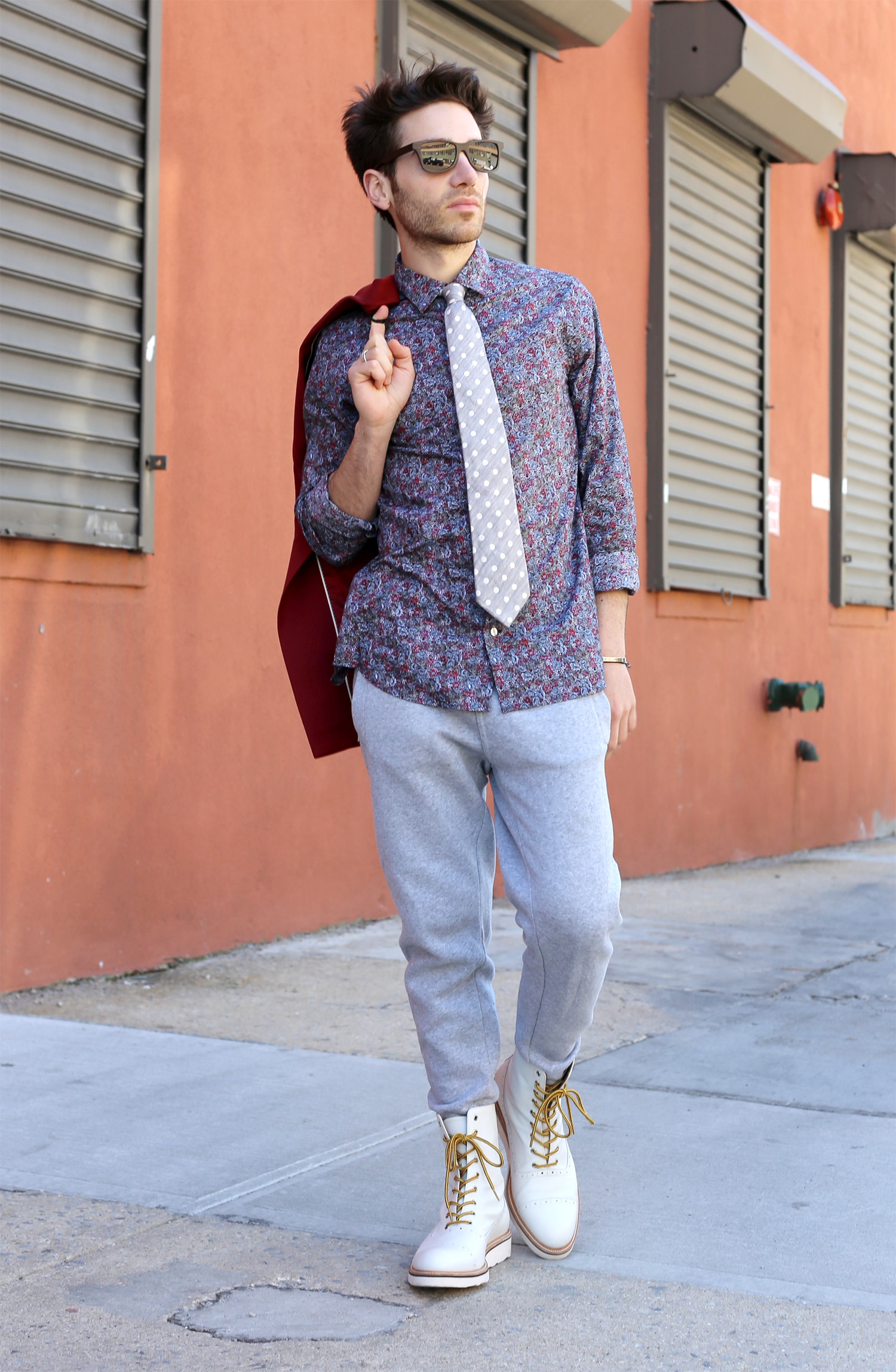 How To Dress Up Sweatpants Oyster Colored Velvet