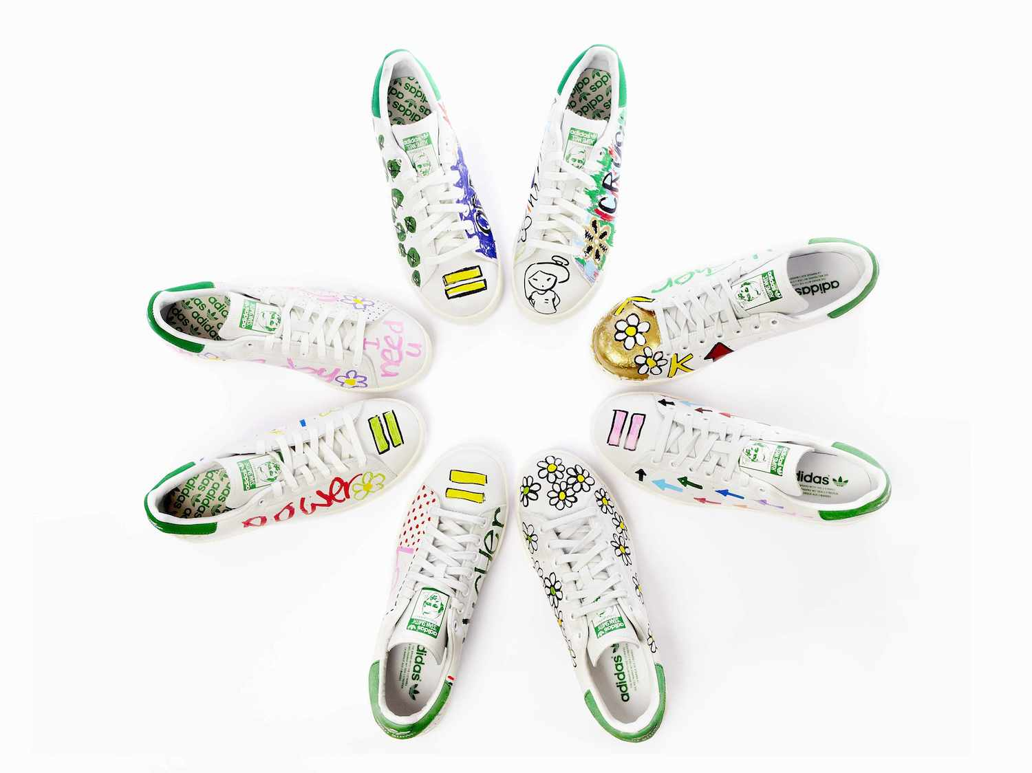 Pharrell Hand Paints Adidas Sneakers