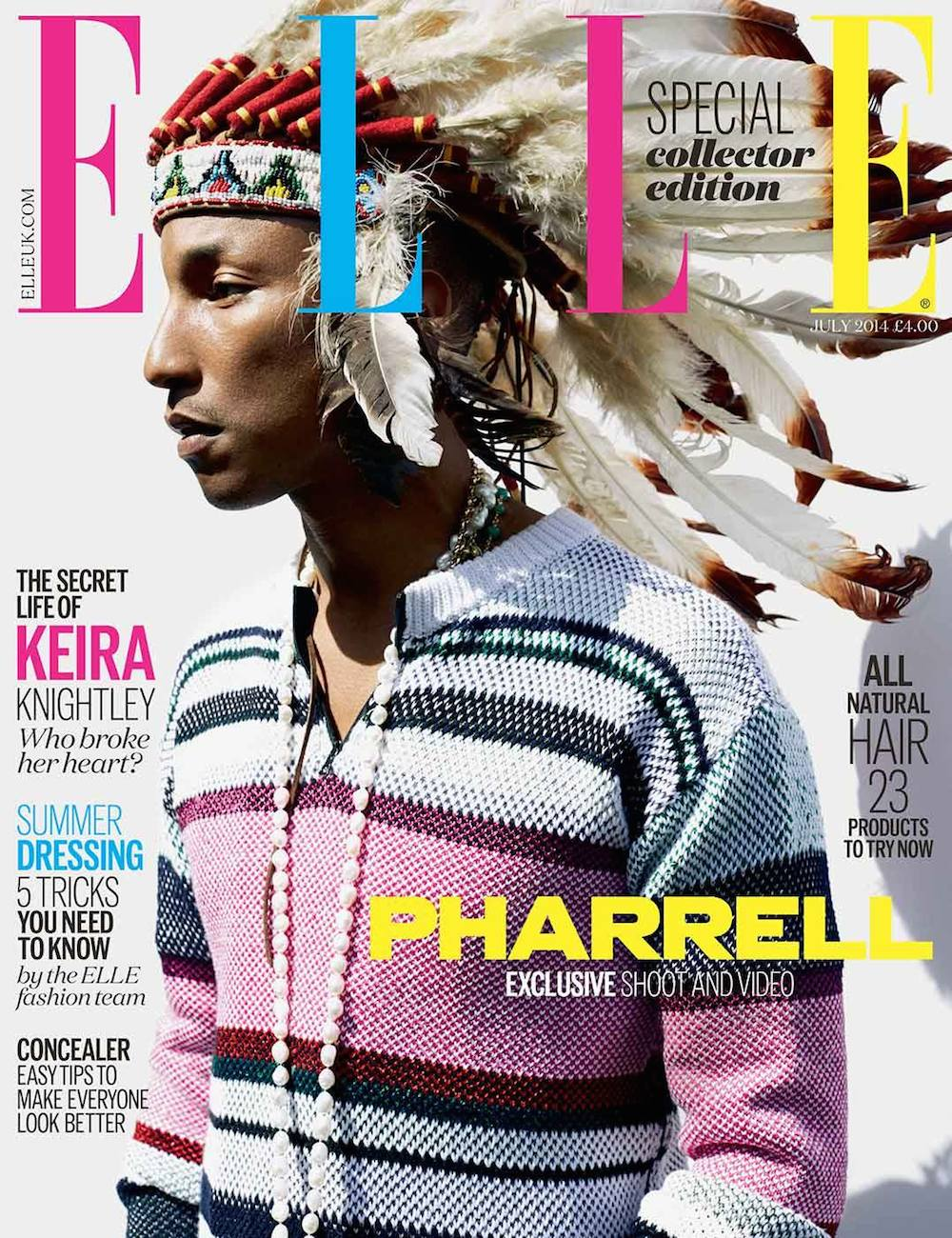 Pharrell Covers Elle UK