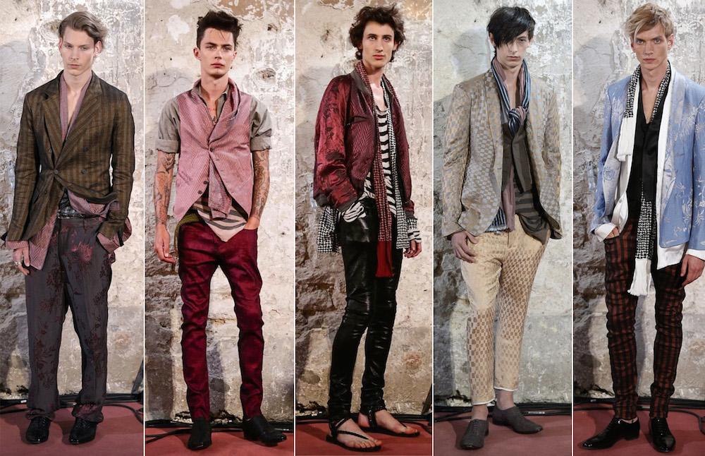 Bohemian Dandies Hit Paris Mens Fashion Week At Haider Ackermann