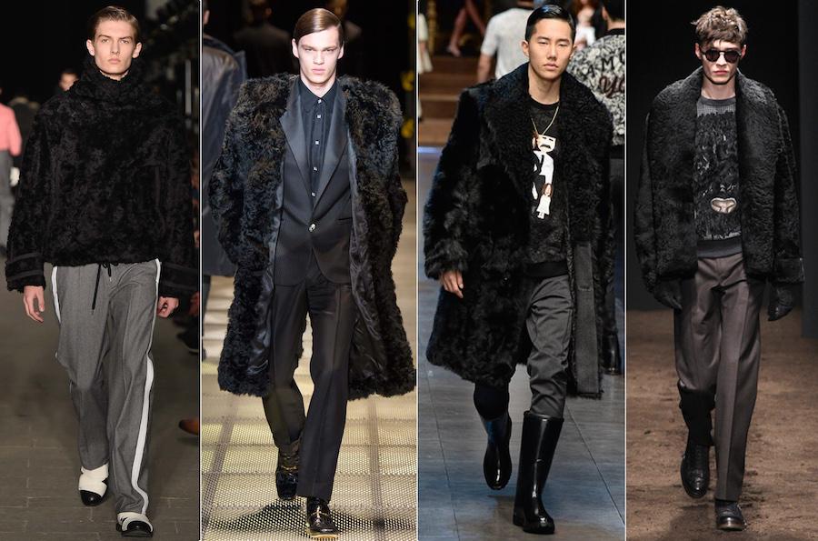 BLACK FUR - Andrea Pompilio, Versace, Dolce & Gabbana, Salvatore Ferragamo