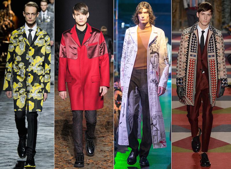Statement topcoat - Dior Homme, Kris Van Assche, Raf Simons, Valentino