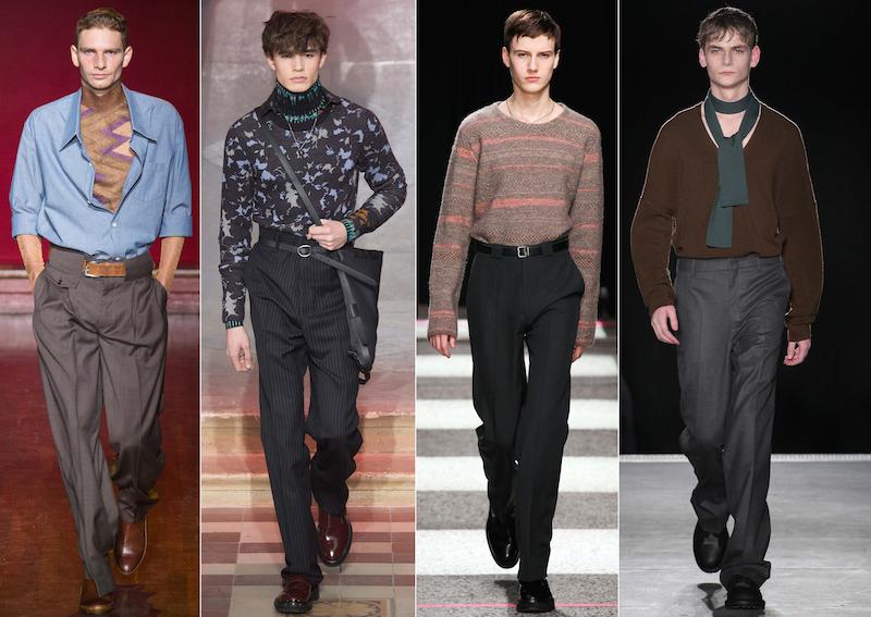 high waisted baggy trousers - Maison Margiela, Lanvin, Paul Smith, Wooyoungmi