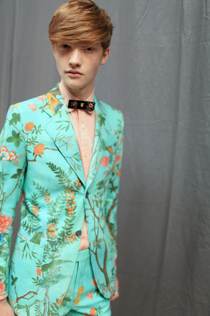 Backstage at Gucci Men's RTW Spring 2016
