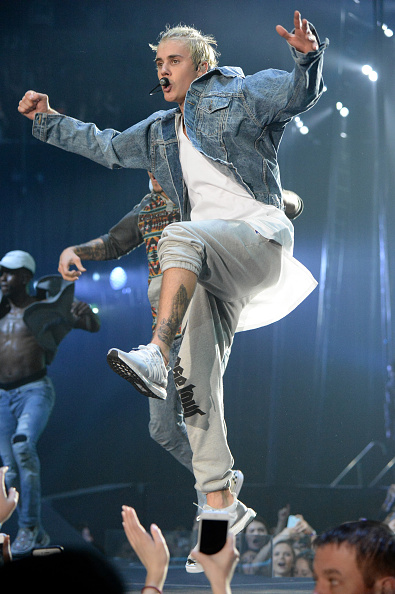 SEATTLE, WA - MARCH 09:  SEATTLE, WA - MARCH 09:  Singer/songwriter Justin Bieber  Singer/songwriter Justin Bieber performs onstage at KeyArena on March 9, 2016 in Seattle, Washington.  (Photo by Jeff Kravitz/FilmMagic)