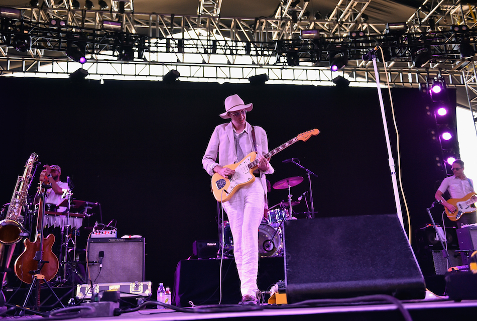 INDIO, CA - APRIL 16: Musician Bradford Cox (C) of Deerhunter performs onstage during day 2 of the 2016 Coachella Valley Music & Arts Festival Weekend 1 at the Empire Polo Club on April 16, 2016 in Indio, California. (Photo by Mike Windle/Getty Images for Coachella)