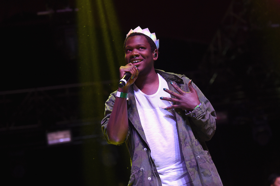 INDIO, CA - APRIL 16: Singer Shamir performs onstage during day 2 of the 2016 Coachella Valley Music & Arts Festival Weekend 1 at the Empire Polo Club on April 16, 2016 in Indio, California. (Photo by Emma McIntyre/Getty Images for Coachella)