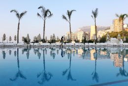 3. Pool side view from the Monto Carlo Beach Hotel. This is where the royal family learns how to swim #MyMonteCarlo @MonteCarloSBM @visitmonaco